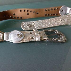 Accessories - Silver Sparkly Belt
